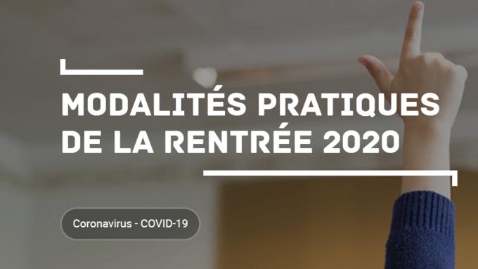 Protocole sanitaire rentrée 2020 - Vie du collège - Collège Saint-Exupéry